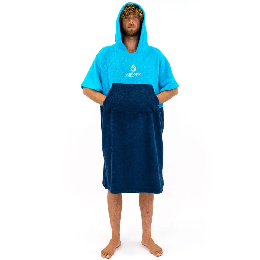 |Surflogic Poncho DryRobe Black Cyan
